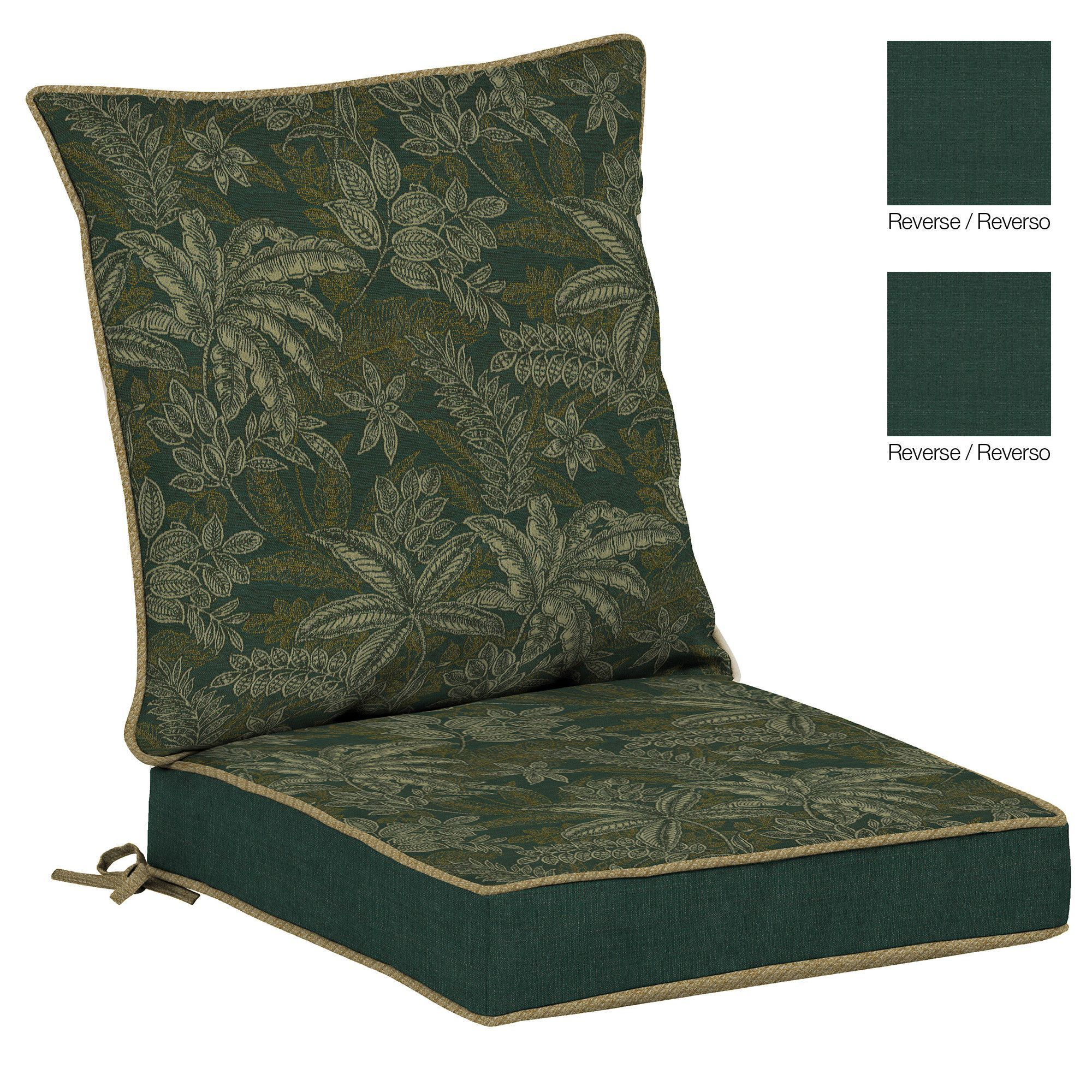 Palmetto outdoor reversible dining chair cushion products