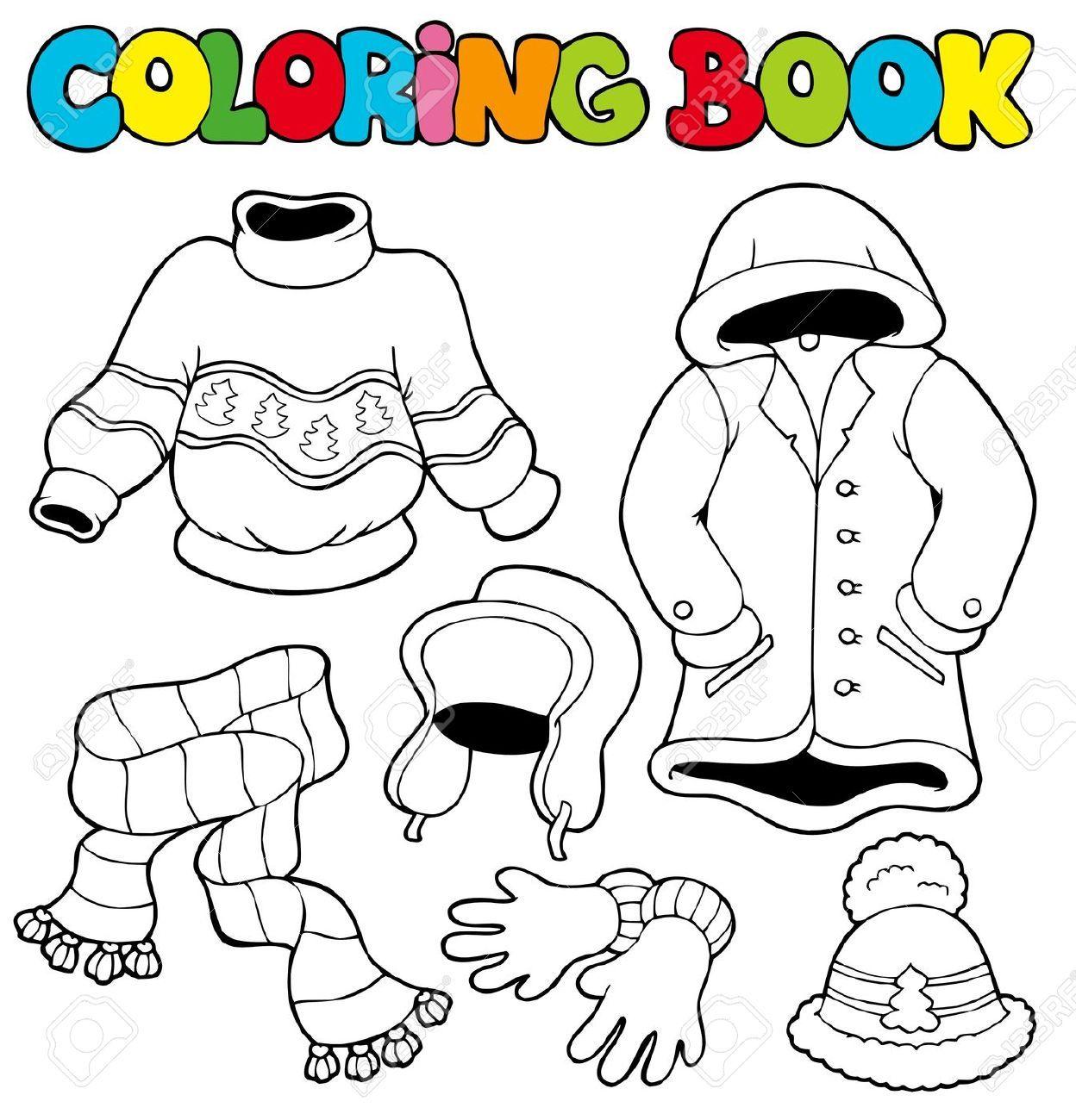 manteau d hiver  colorier Recherche Google