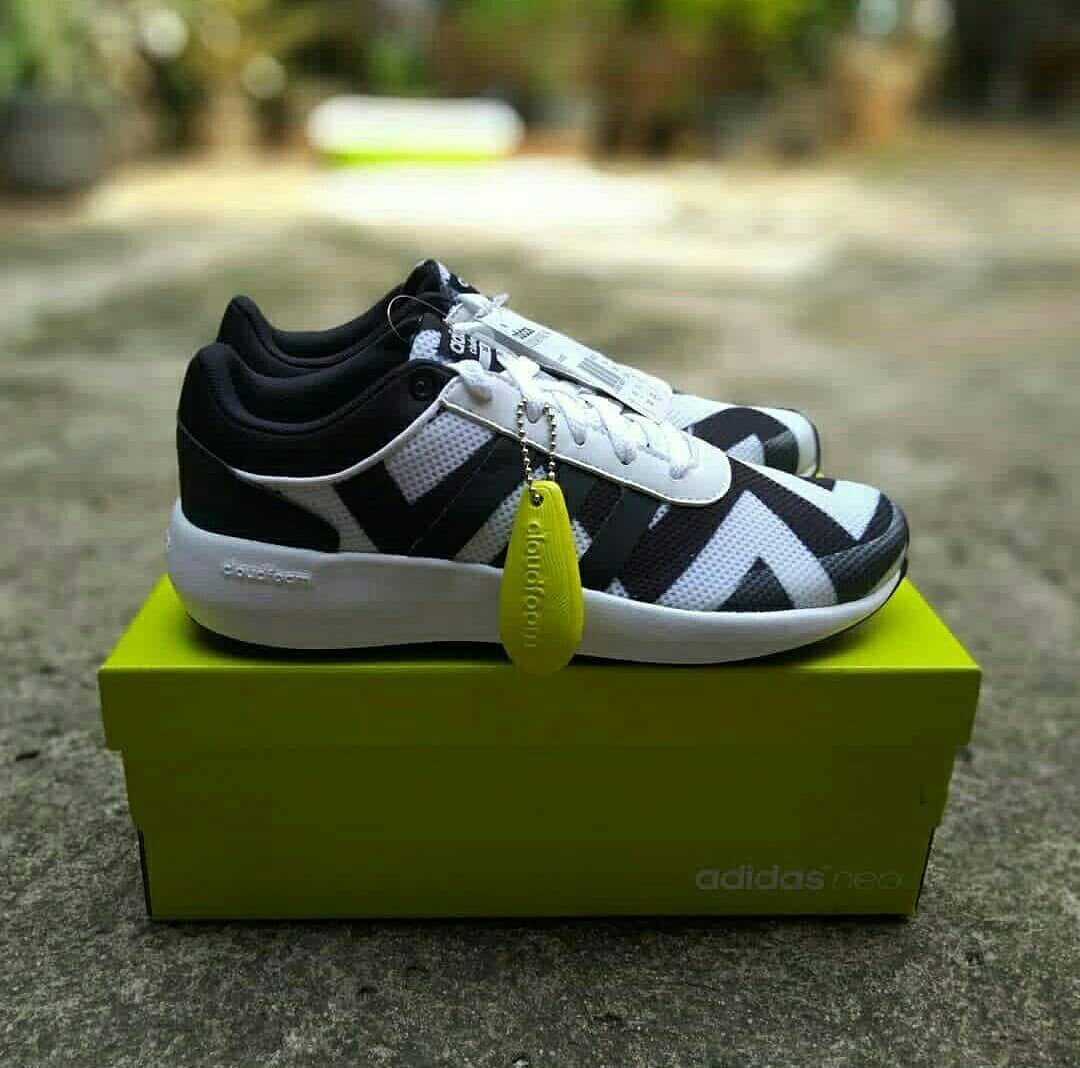 Sepatu Running Snaekers Adidas Cloudfoam Race W Article Aw5284