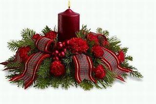 Muyamenocom Decoracion De Navidad Centros De Mesa C Proyectos - Centros-de-mesa-navideos-con-velas