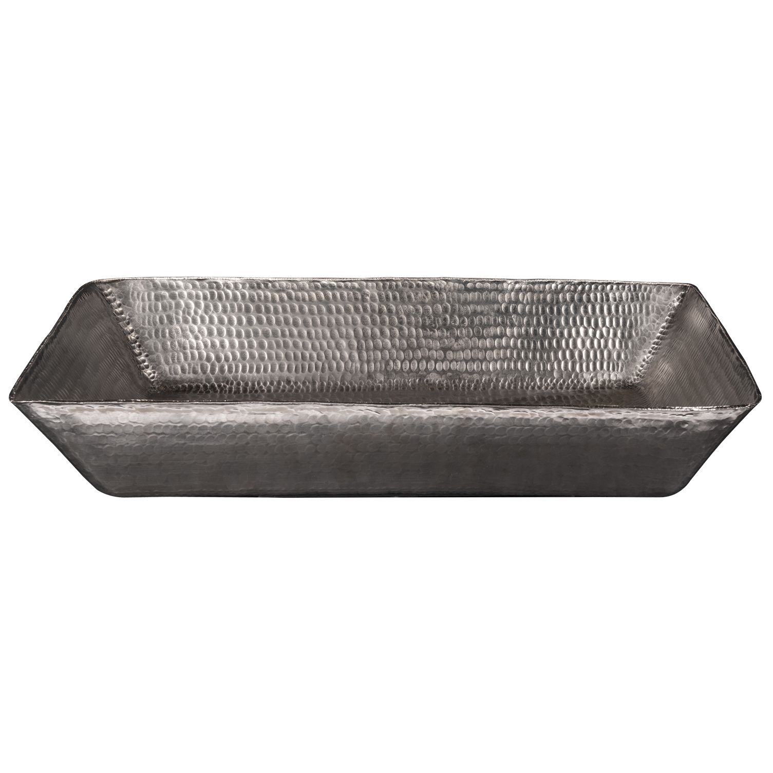Photo of Premier Copper Products – 20″ Rectangle Vessel Hammered Copper Sink in Nickel
