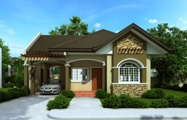 High Quality Bungalow House Designs Series, Is A Floor Plan With A Total Floor Area Of  90 Sq. House Designs In The Philippines Are Compact And Yet Are  Well Organized To ...