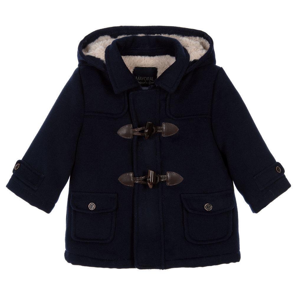 d1e358785745 Boys Navy Blue Duffle Coat