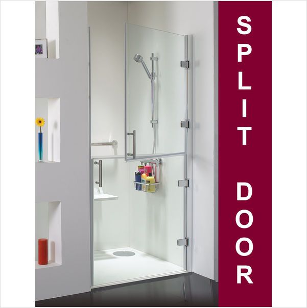 Access disabled shower split door 900mm for wet room for What s a wet room