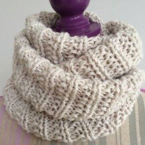 tricoter un snood en cote