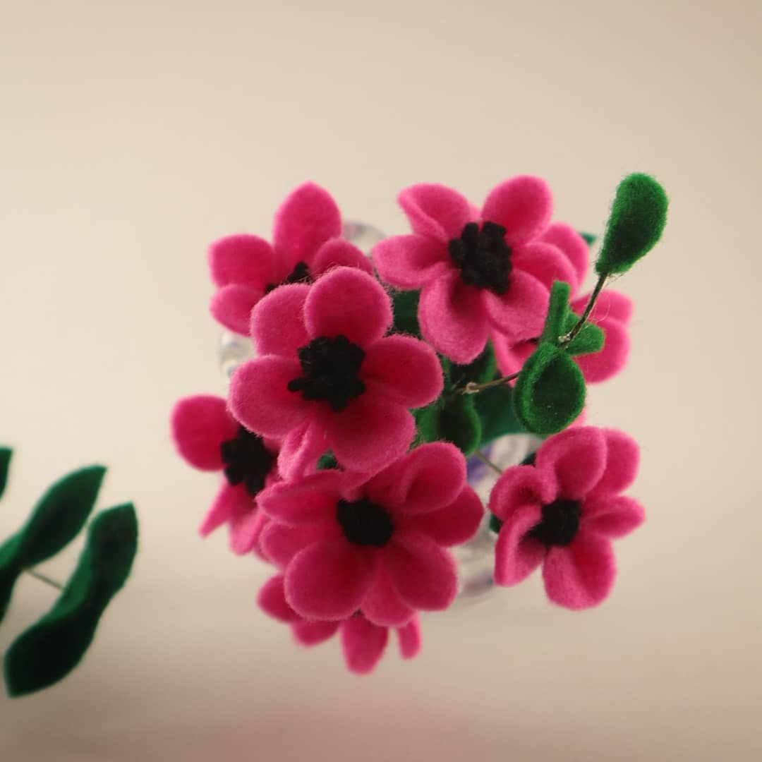 Bunga Felt Felt Flower Idea Diy Bunga Flanel Kreasi Flanel