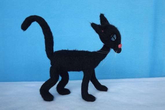 Black Cat Plush Coraline Cat Plush Toy A Small Version Of The