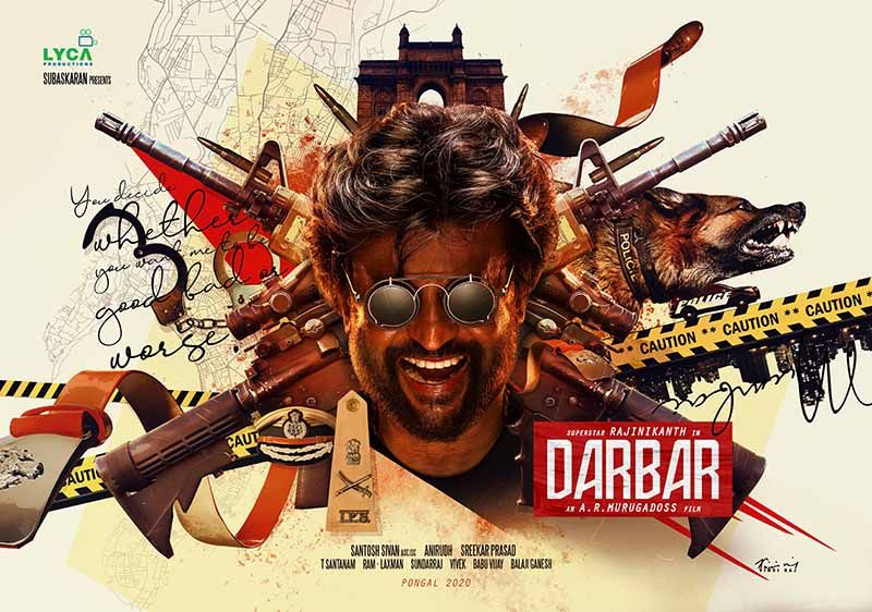 Superstar Rajinikanth's Darbar Movie First Look Poster
