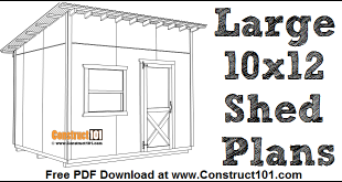10x12 Lean To Shed Plans Free DIY Projects Construct101