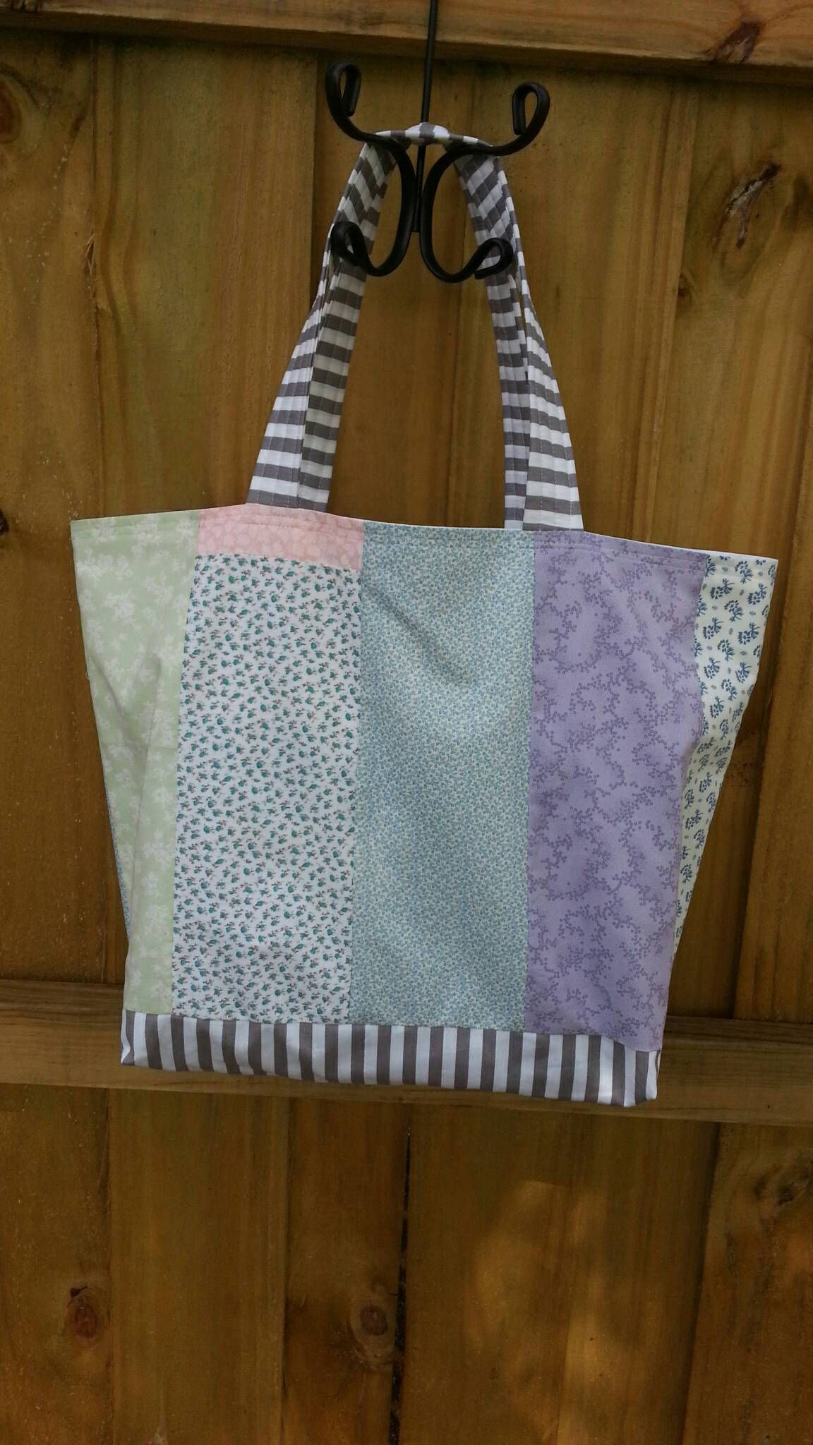 Large Market Tote Bag Shabby Chic Patchwork One of a Kind by ...