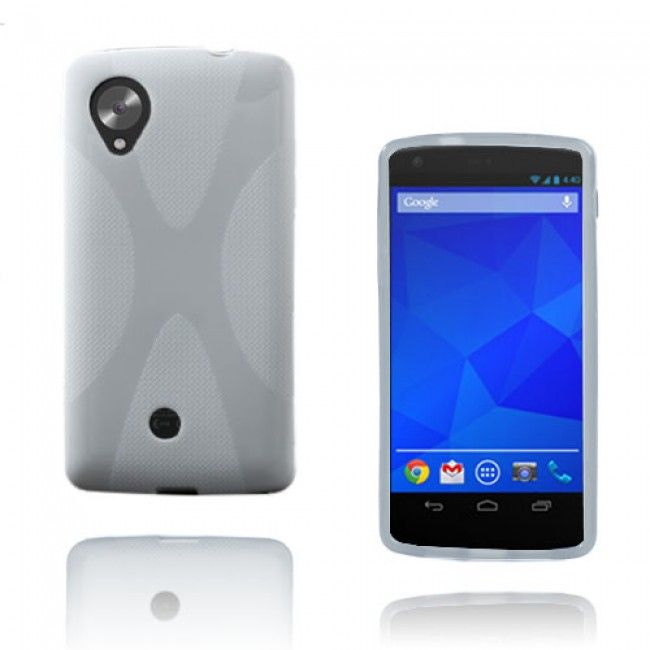 X-Line Google Nexus 5 Suojakuori (Valkoinen) - http://lux-case.fi/x-line-google-nexus-5-suojakuori-valkoinen.html