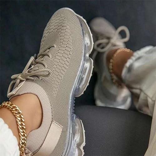 Breathable Mesh Sneakers – Gray / 10