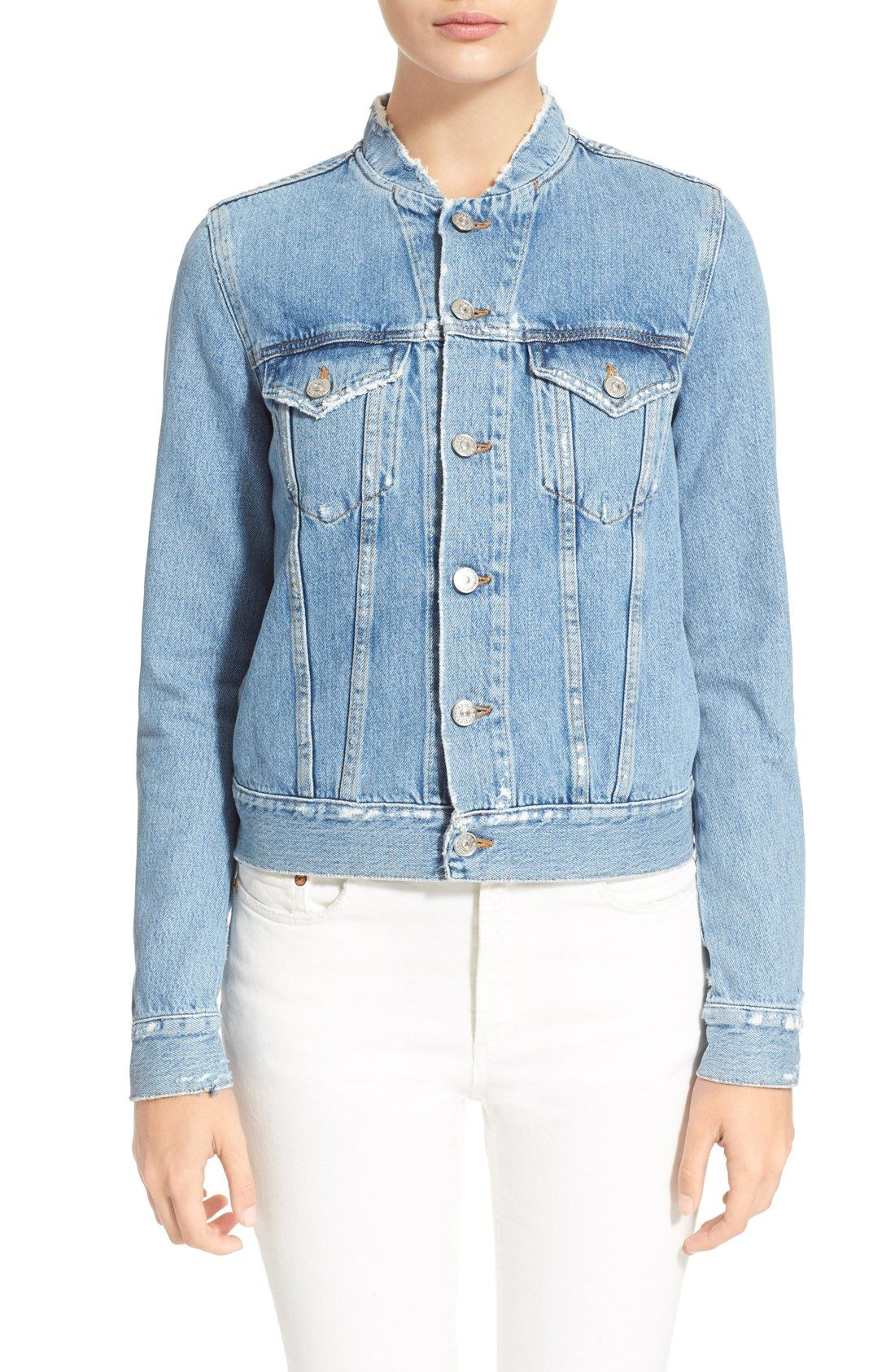 ba9fa30a87 ACNE Studios  Fray  Denim Jacket
