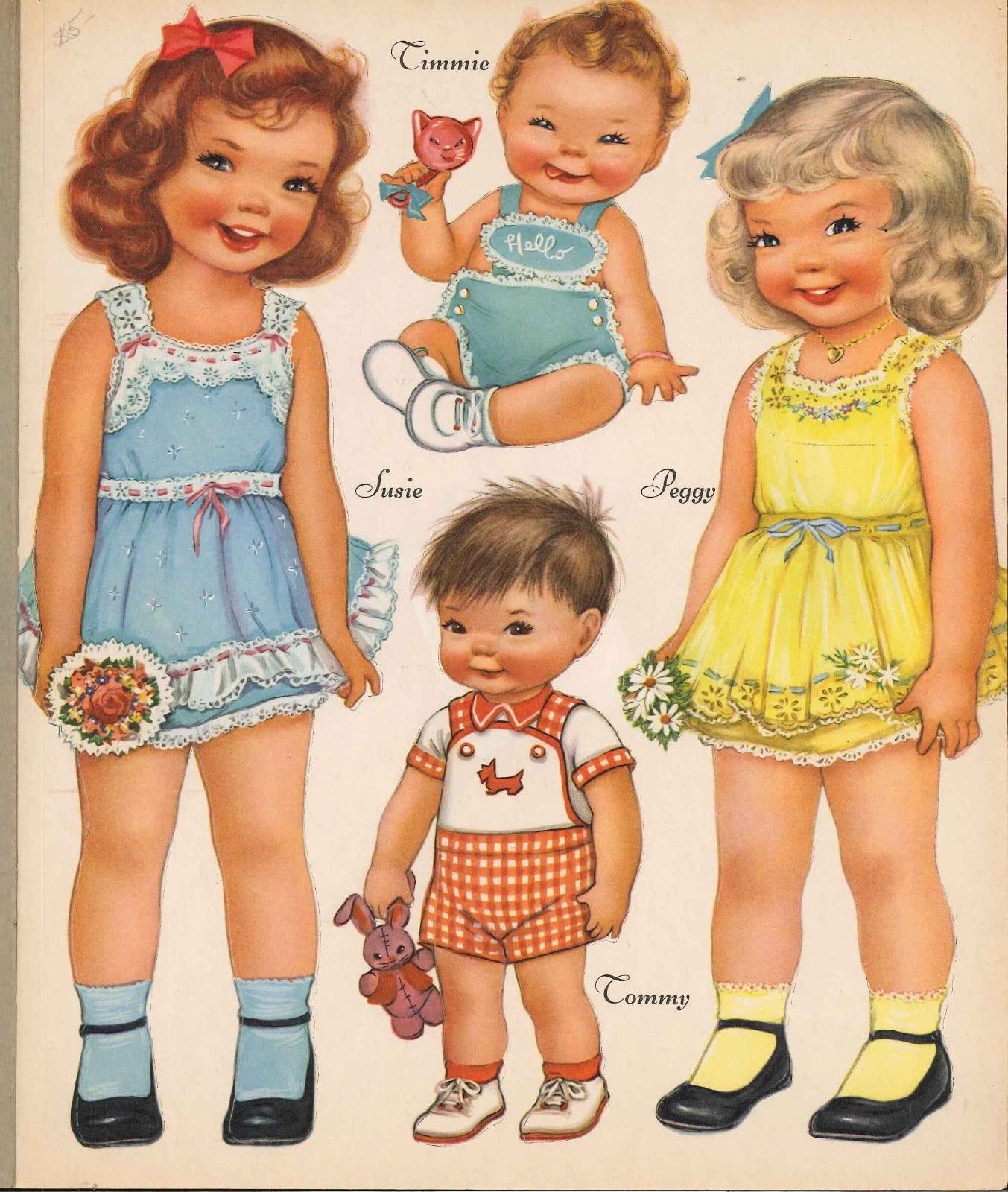 VINTGE UNCUT 1940S NURSERY SCHOOL PAPER DOLL ~HD LASER REPRODUCTION~LO PRICE