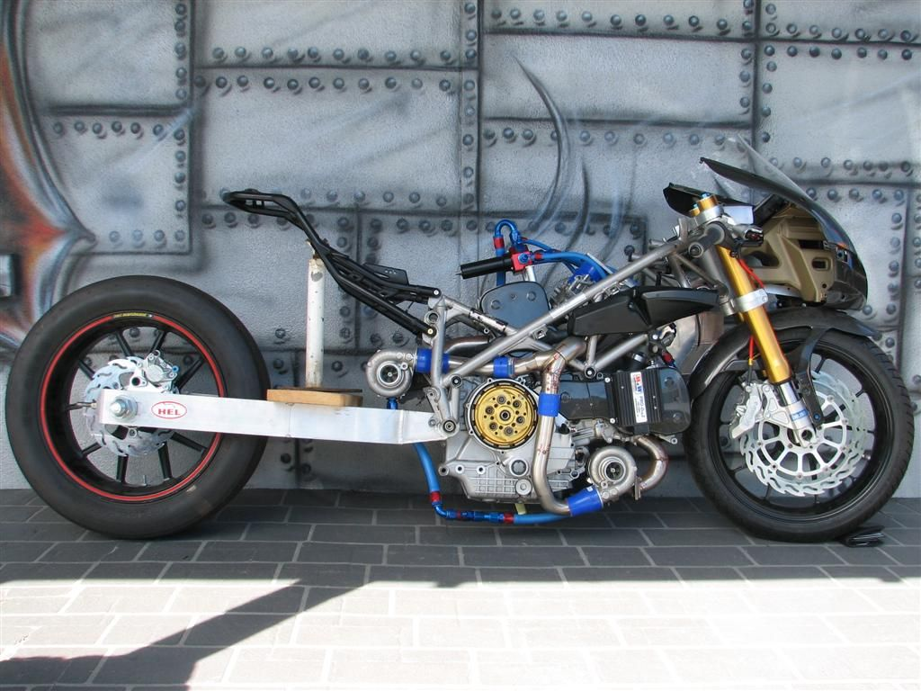 Gsxrk 1000 Drag Bike Ducati Twin Turbo