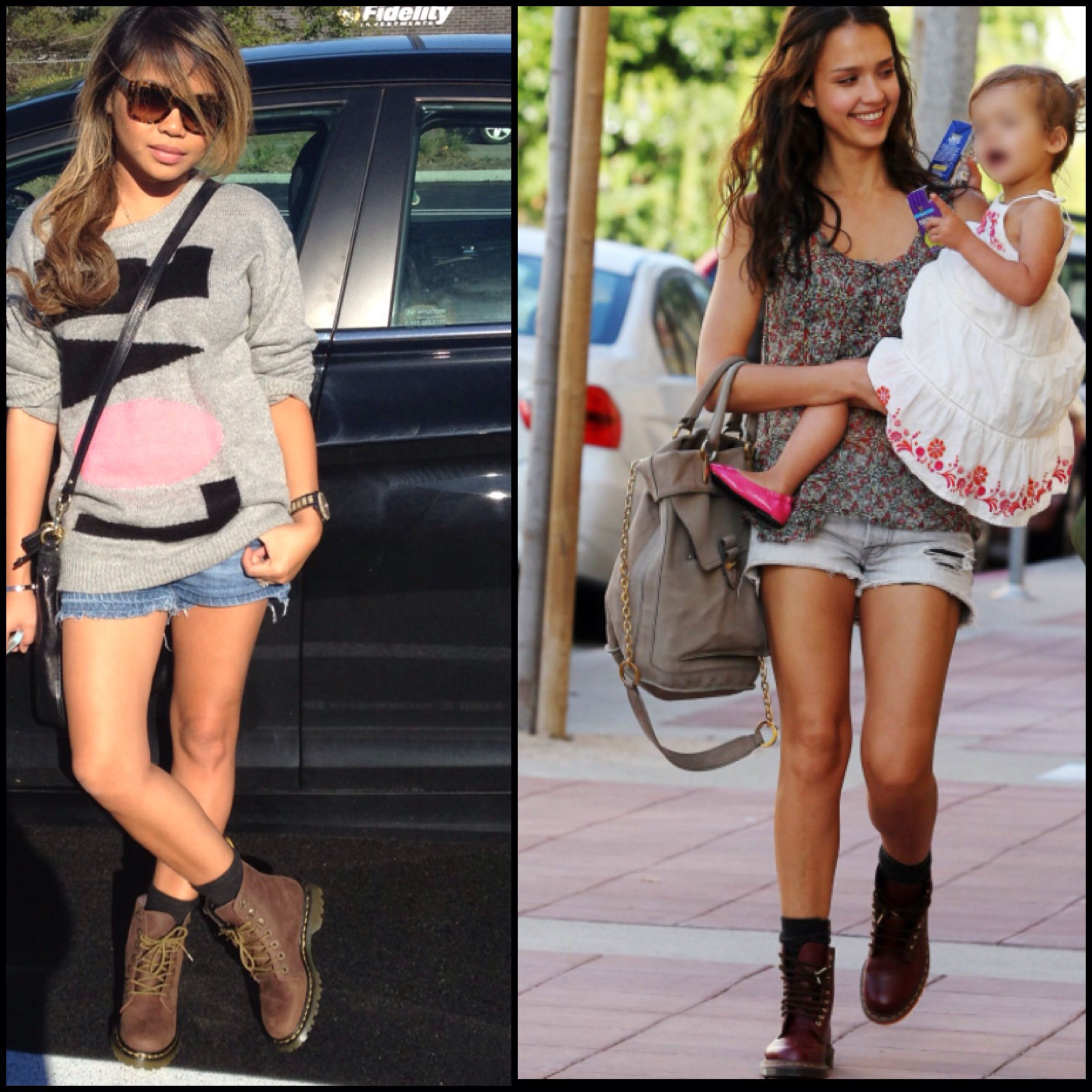 Dr. Martens outfit inspiration was jessica alba   Fashion ...