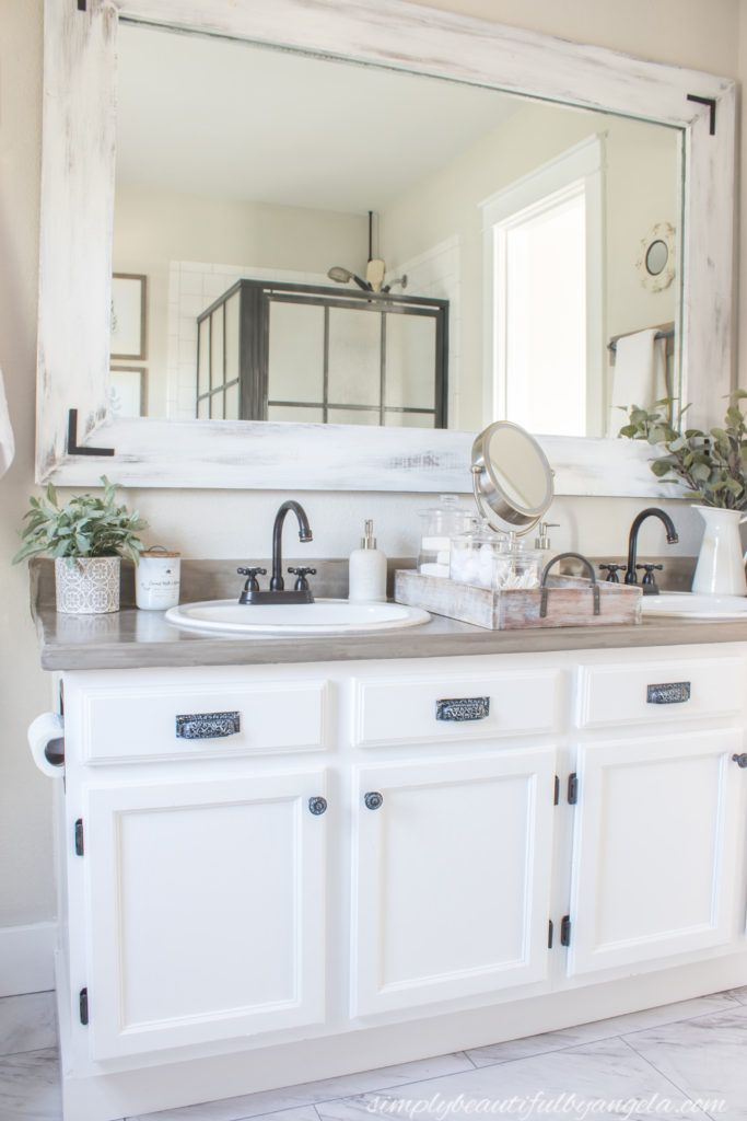One Room Challenge (Week 6): Industrial Farmhouse Bathroom Refresh on a Budget | Simply Beautiful By Angela