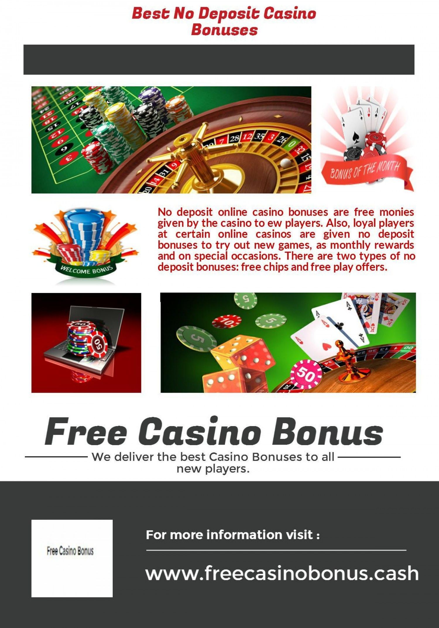 Top No Deposit Casino Bonuses