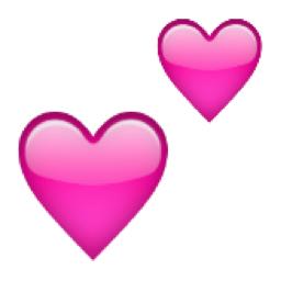 Two Hearts Emoji U 1f495 U E327 Coracao Rosa Artes E Oficios Emoji