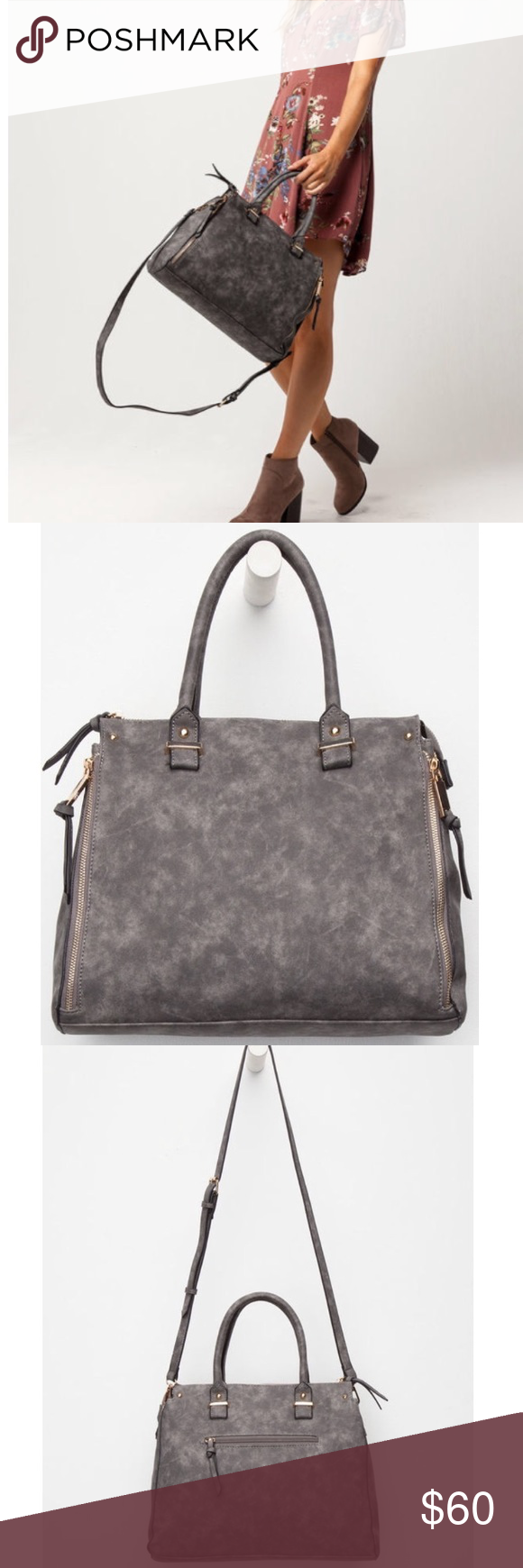 8a667f9f2d95 Free People Danica Tote Bag Free People line Violet Ray Danica tote bag. Faux  leather