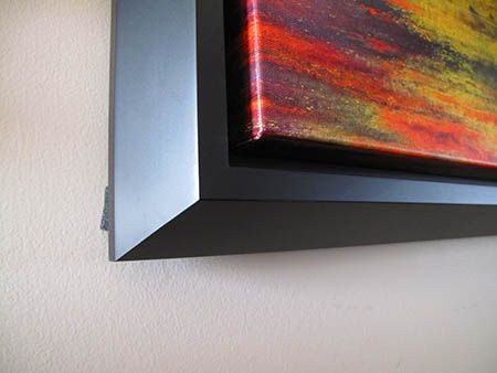 wood frame for canvas print- 1/2 inch space between canvas and frame ...