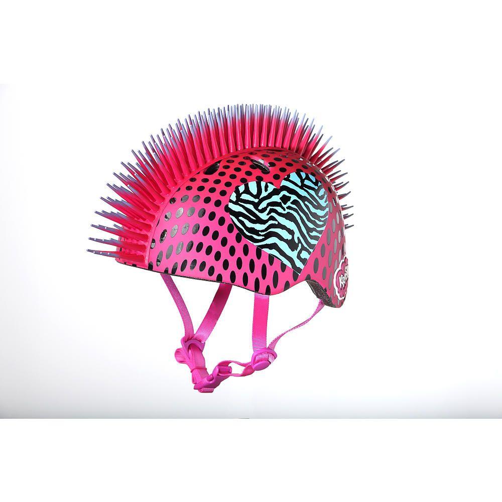 Krash x child helmet zebra heart mohawk cpreme toys
