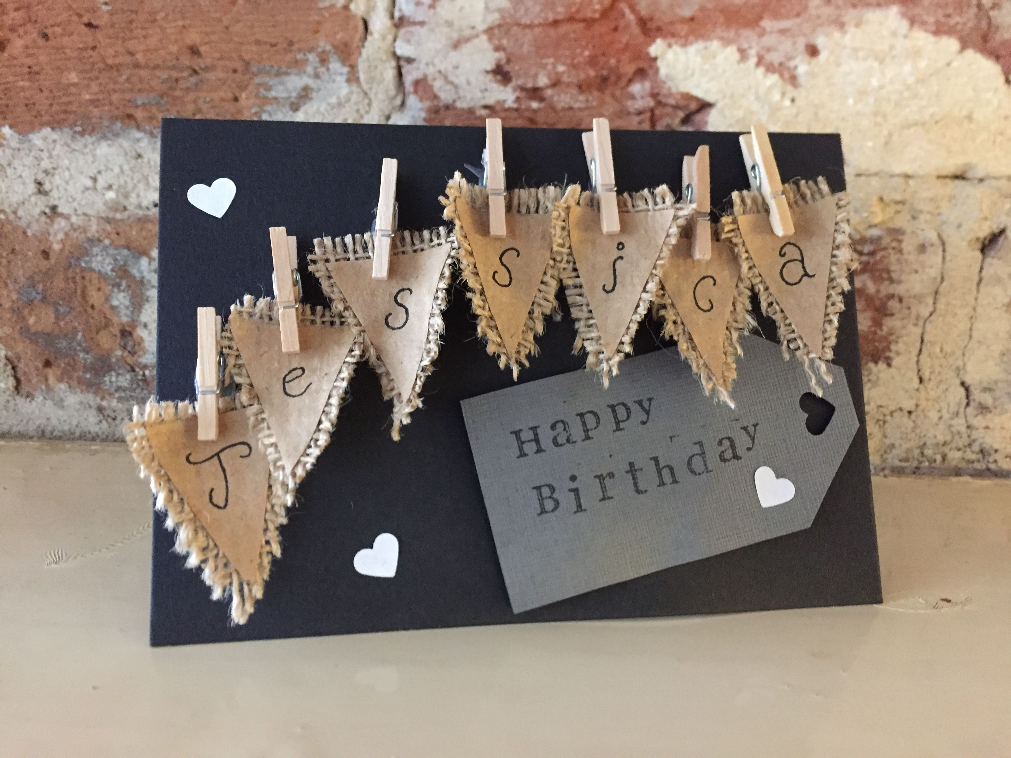 Handmade Personalised Birthday Card CardsGifts UkHandmade
