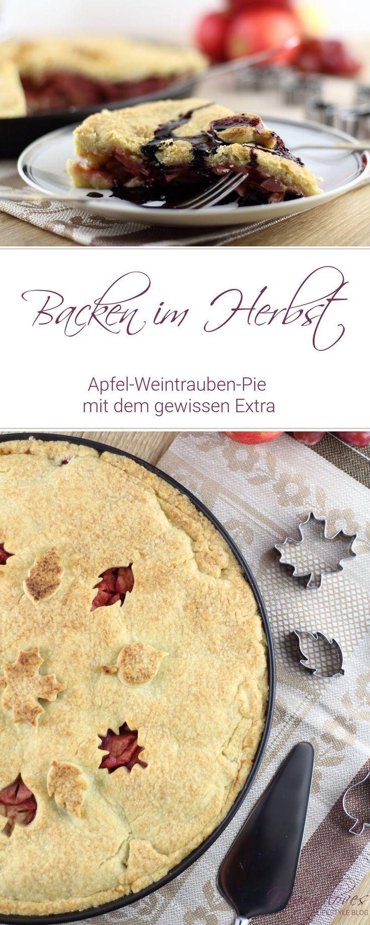 Apfel-Weintrauben-Pie mit dem gewissen Extra - Mary Loves