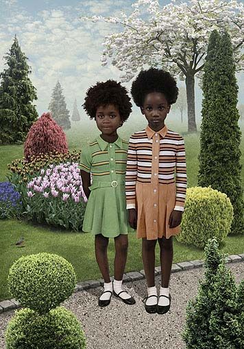 Artist Ruud Van Empel. They are prints using a method called Ilfochrome http://web.ruudvanempel.nl/works.html  #BlackOutDay 1
