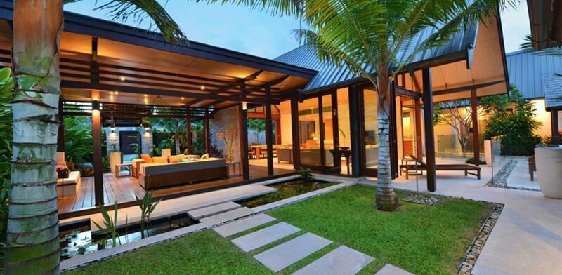 Niramaya villas port douglas bali style home garden for Pavilion style house plans