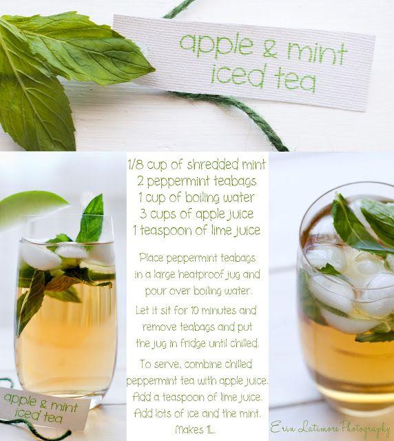 Apple and Mint Iced Tea