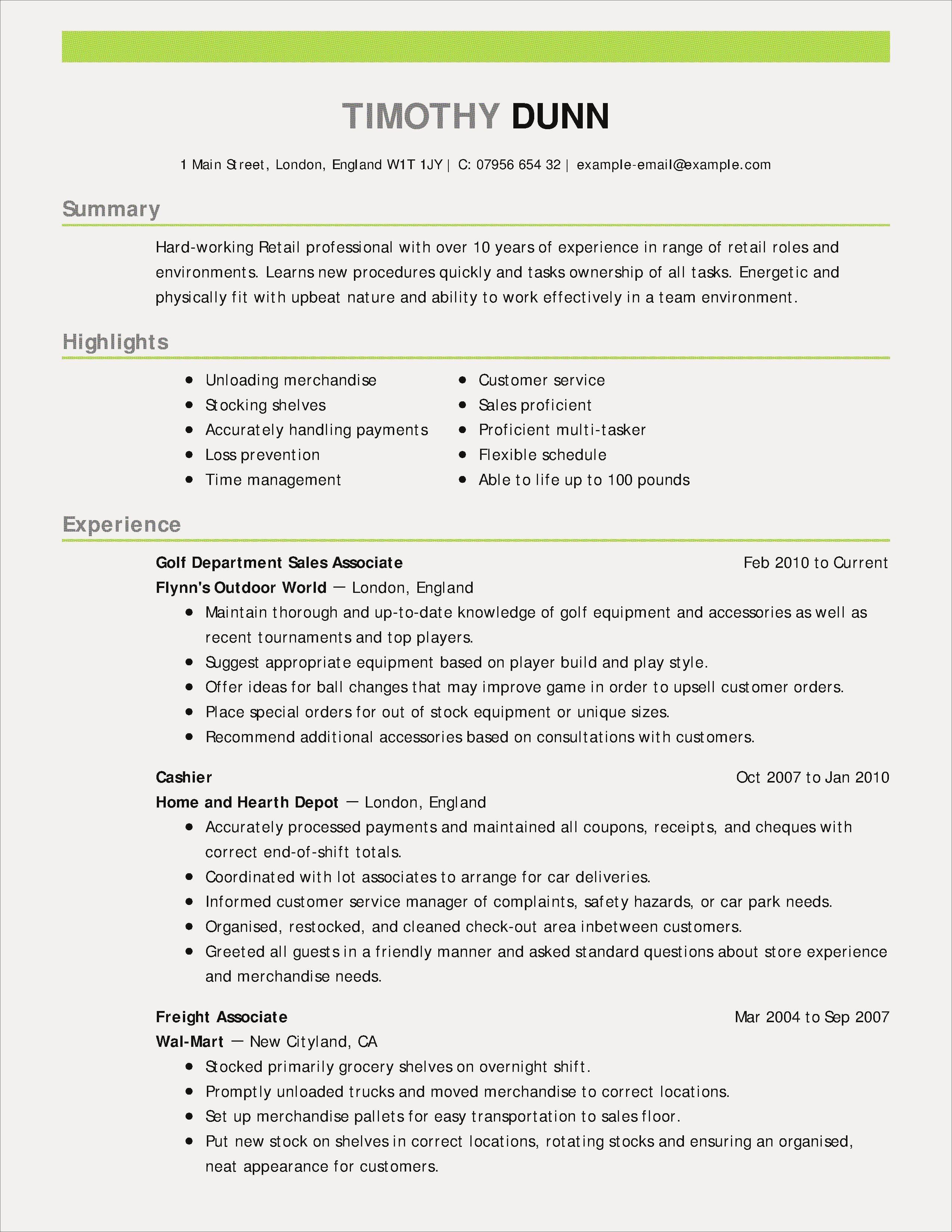 Resume For Restaurant Job Beautiful New Restaurant Worker Resume Resume Objective Examples Good Resume Examples Resume Skills