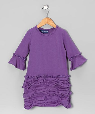 Take a look at this Lavender Ruffle Dress - Toddler & Girls by Out of Control & 3 Little Stars on #zulily today!