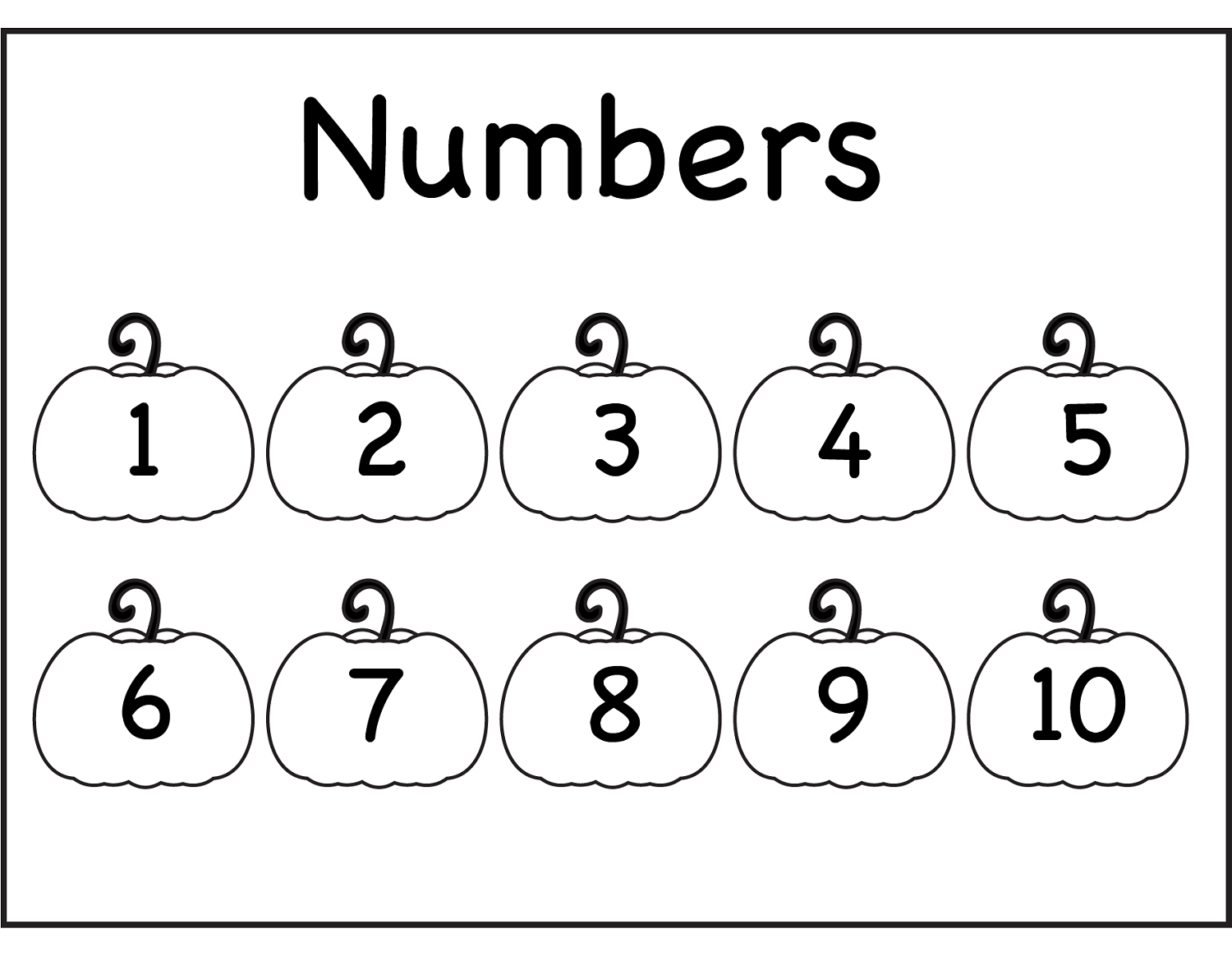 Traceable Number 1 10 For Numbering Lesson