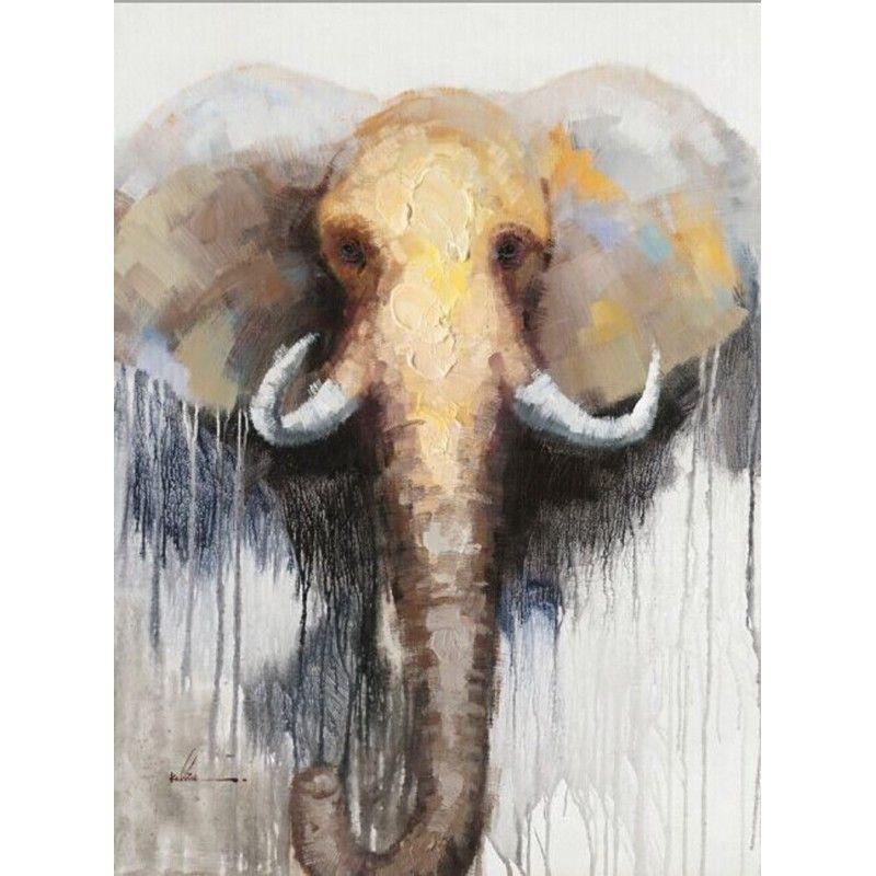 Tableau Peinture Figurative Contemporaine Elephant Tableau Peinture Figuratif Peinture Contemporaine
