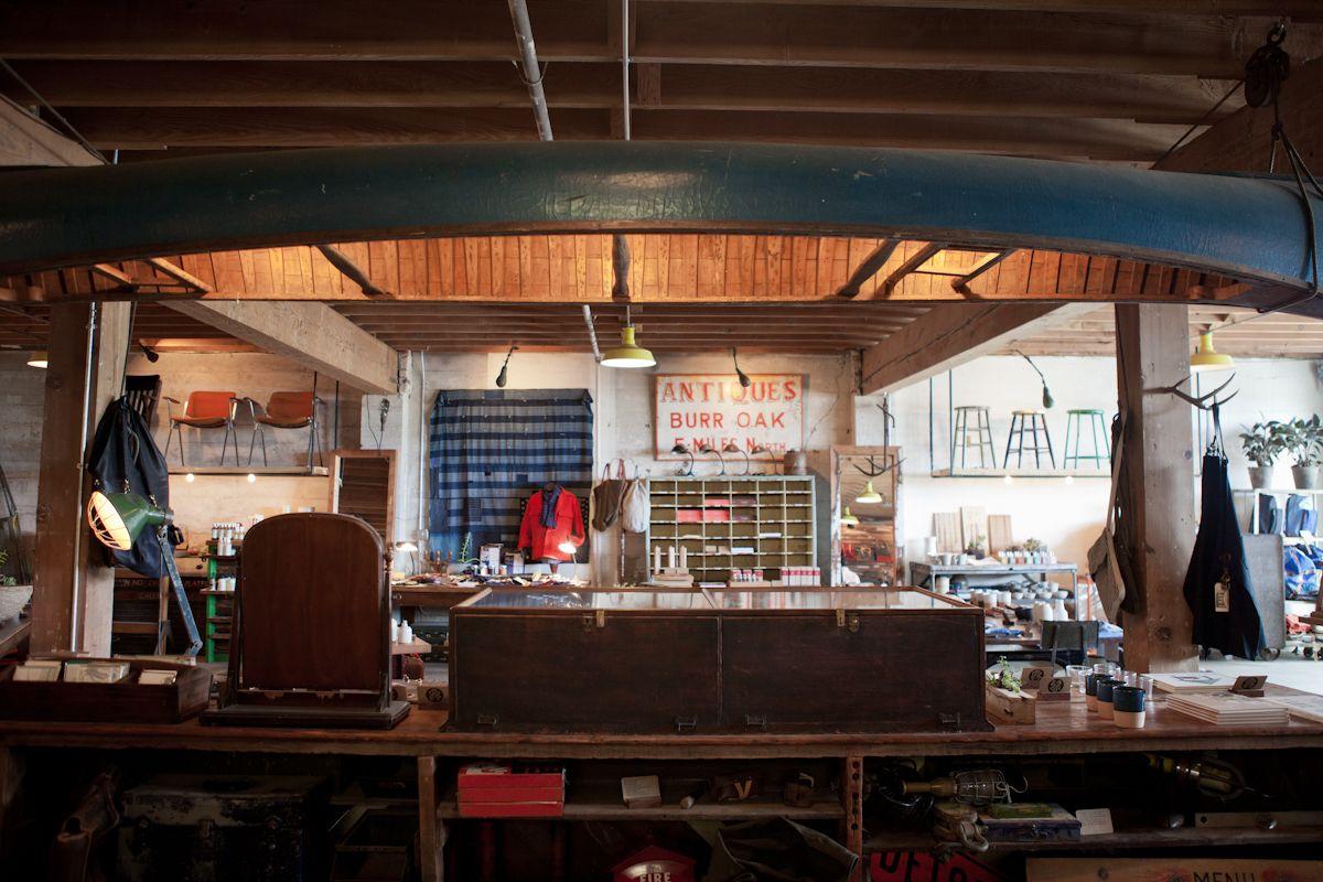 Portland Oregon Beam And Anchor Kinfolk Restaurants Coffee Shop Stores Shops Store Interiors Beams Brick Mortar