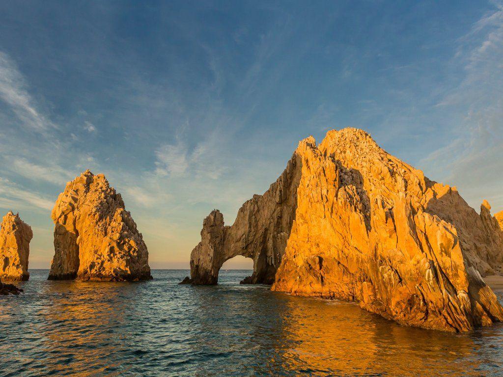 sunrise at el arco, cabo san lucas, baja california sur, mexico