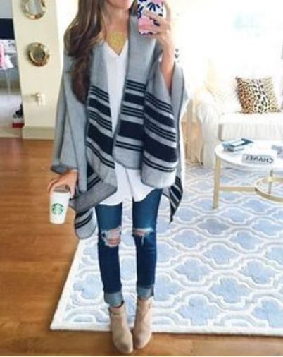 b791b0169 20 Ways To Wear A Blanket Scarf | [Fashion] Trends | Fashion, How to ...