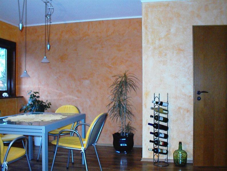 Dekorative Wandgestaltung Mit Verschiedenen Putz Und