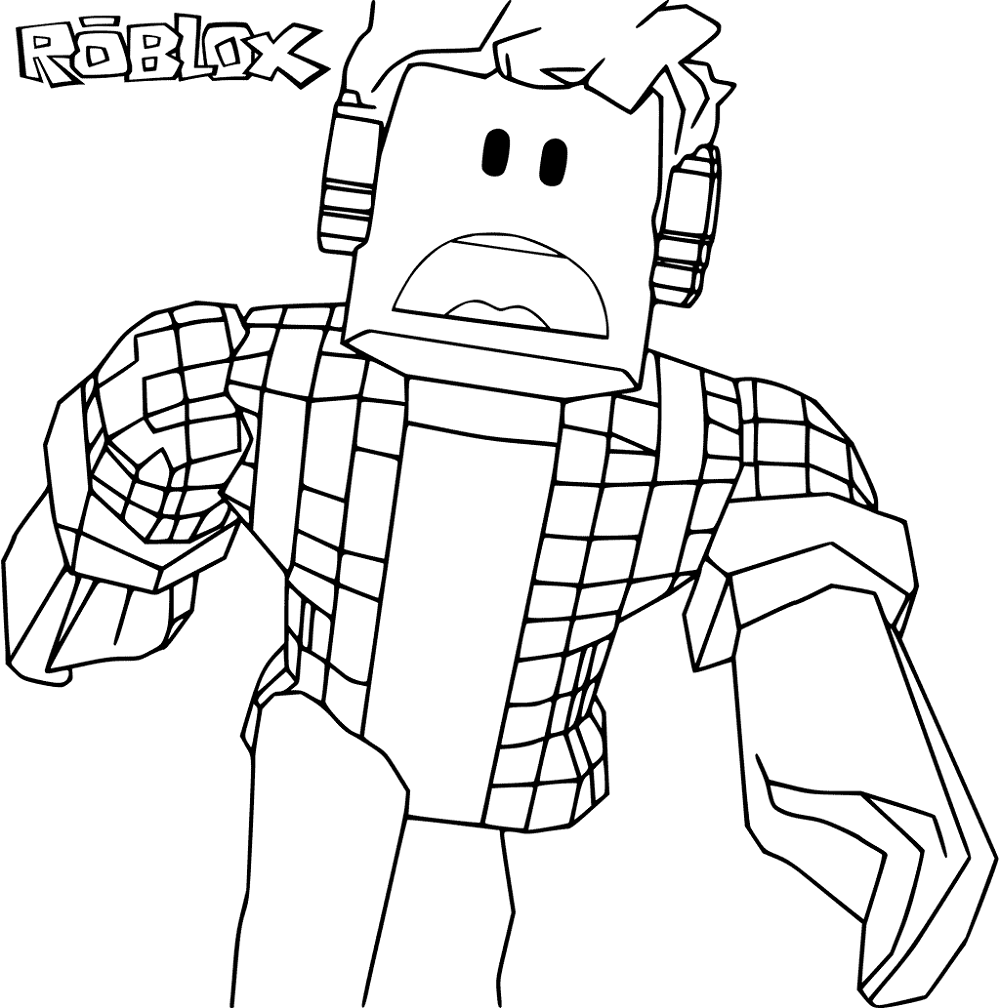 Printable Roblox Logo Coloring Pages
