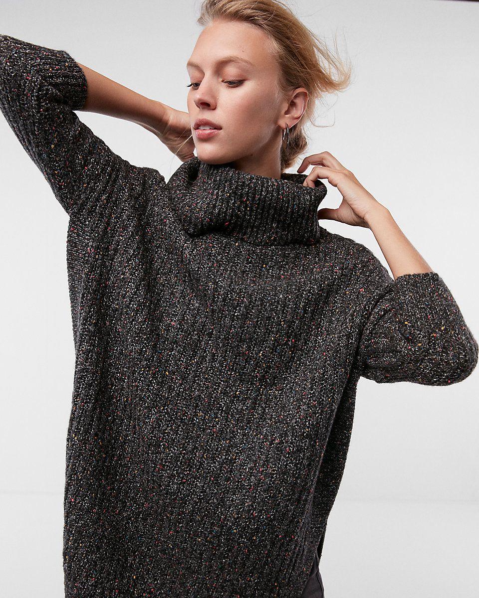 2d3a3cdfa Extreme Circle Hem Cowl Neck Sweater