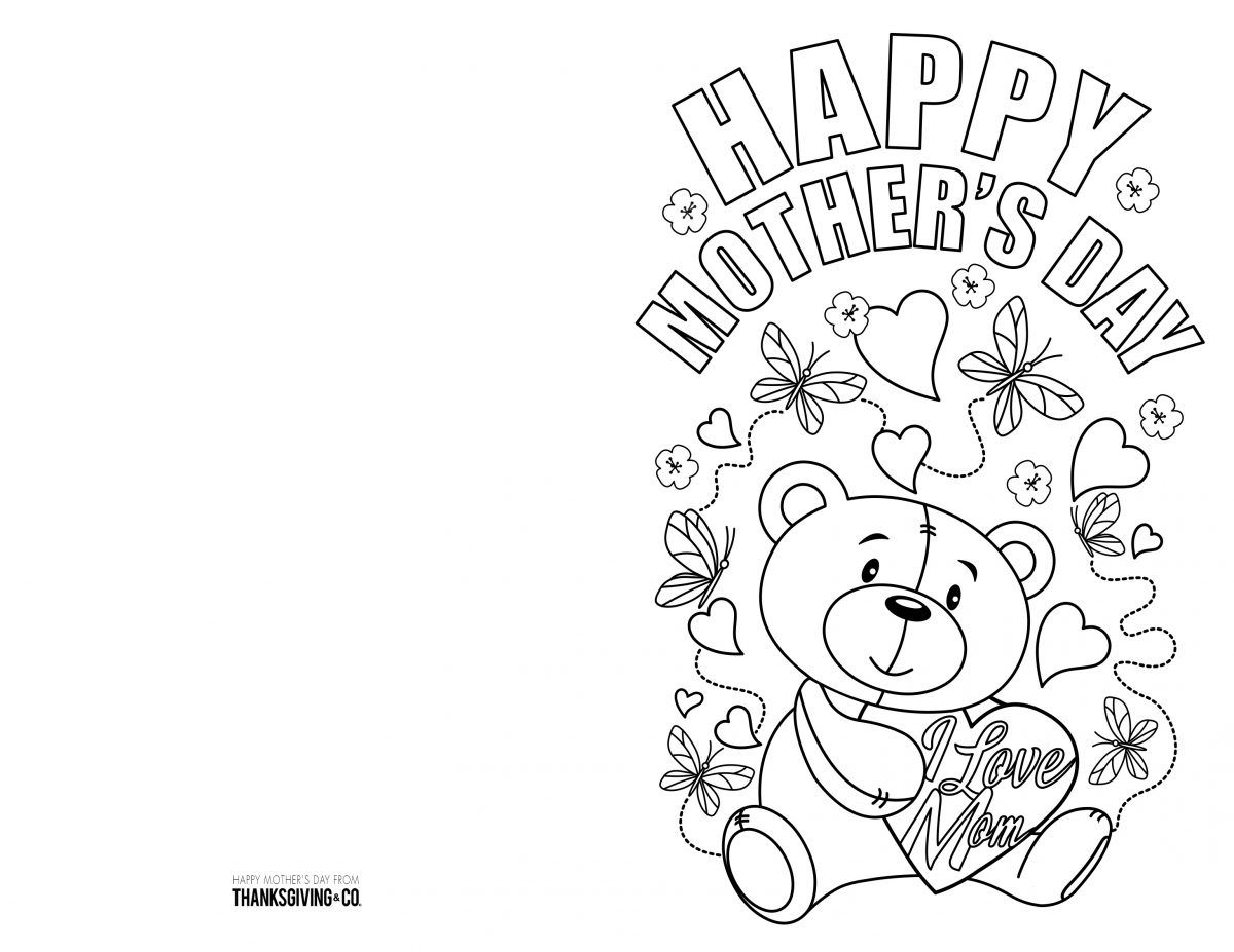 4 Free Printable Mother S Day Ecards To Color Mothers Day Card Template Mothers Day Coloring Pages Happy Mother S Day Card