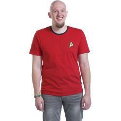 Camiseta de uniforme rojo de Star Trek
