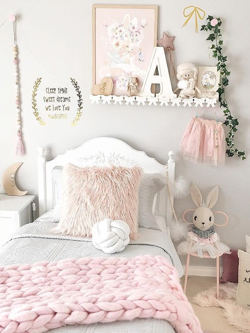 Inspiration from Instagram - pastel girls room ideas, pink and