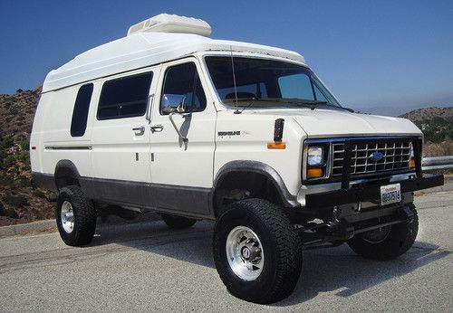 4x4 4WD Quadravan 117k Mi Extended Conversion Van High Roof Expedition RV