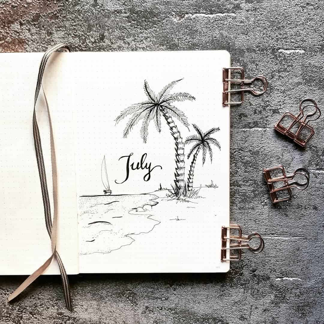25 + July welcome pages for your Bullet Journal | My Inner Creative