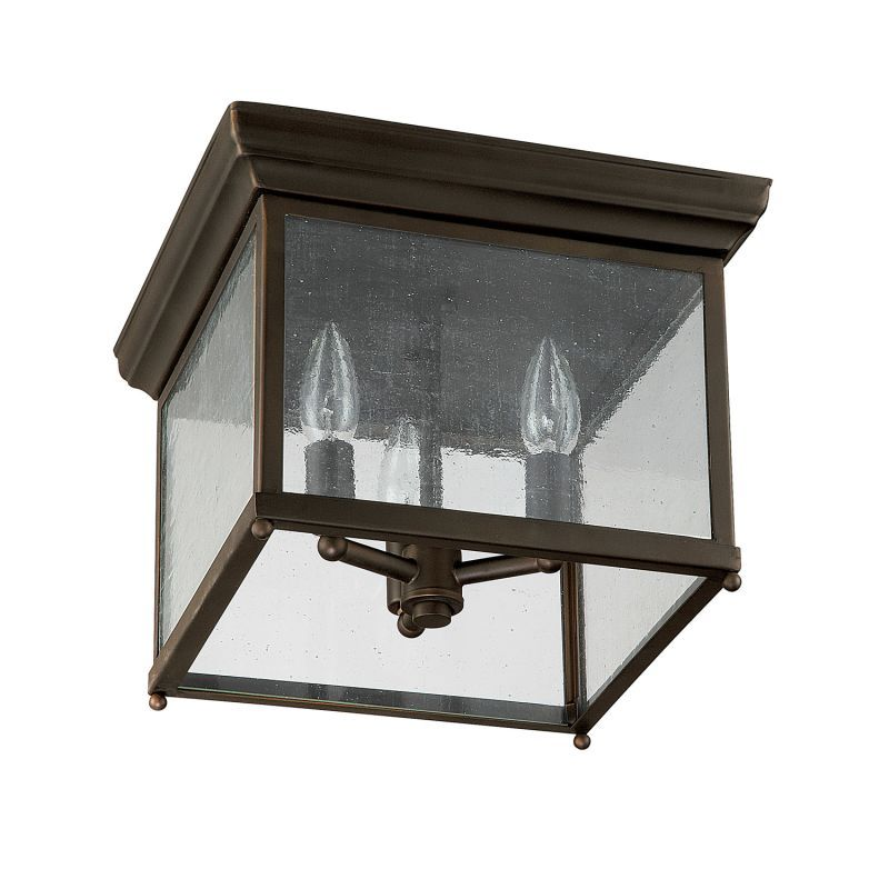 Capital Lighting 9546 3 Light Outdoor Flush Mount Ceiling Fixture Old Bronze Outdoor Lighting Ceiling Fixtures Flush Mount