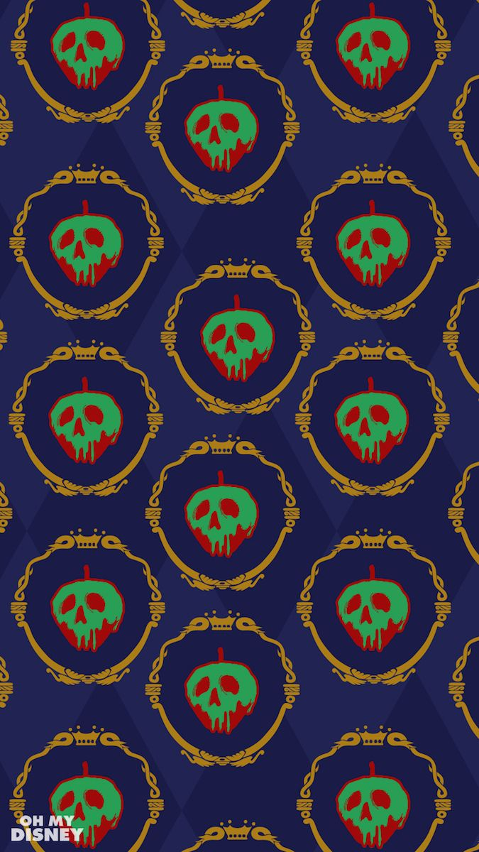 These Disney Villain Phone Wallpapers Inspired By Gift Wrap Paper Are Perfectly Wicked