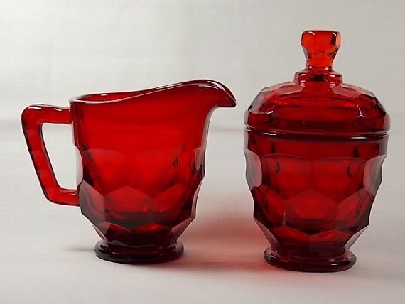 Scarce Circa 1969 Viking Art Glass Ruby Red by DianesBargainShack