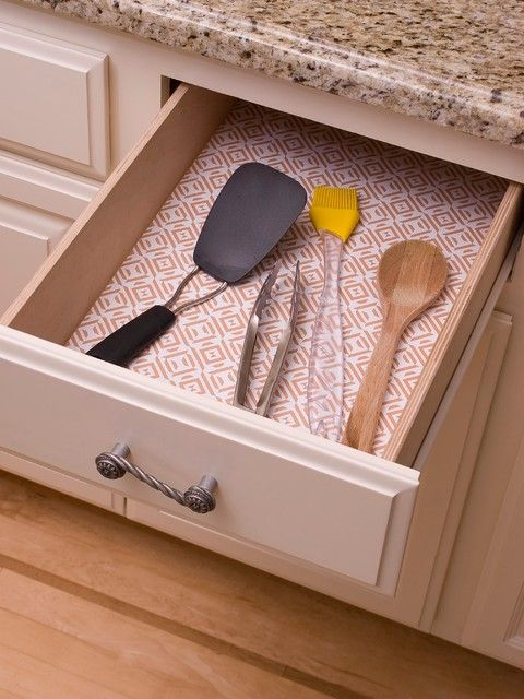 decorative shelf liners contemporary drawer shelf from Kitchen ...